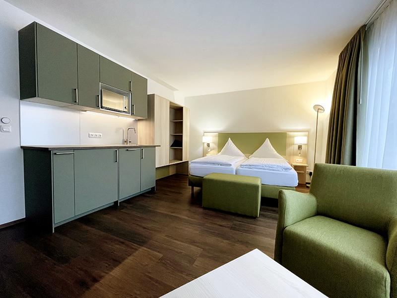 Doppelzimmer Hotel Garching Nähe Flughafen München und Allianz Arena